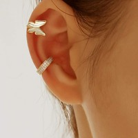 Butterfly Ear Cuff 2pcs