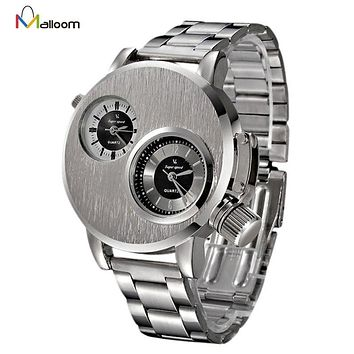 Watch Mens Top Brand Luxury Military Army Business Relogio Masculino Stainless Steel Date Quartz Analog Clock