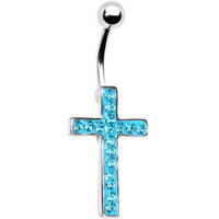 body jewelry cross Belly button Ring rhinestone inlaid silver piercing Accessary 316Lmedical stainless steel navel ring/nail