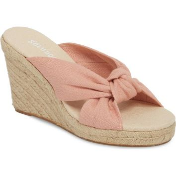 SOLUDOS Espadrille Wedge Sandal Dusty Pink $85