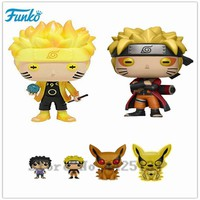 Naruto Sasauke ninja Original Funko pop  Anime Figure Hot Movie Collectible Vinyl  Action Figure Model Pvc Collection Toys AT_81_8