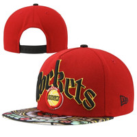New Era Houston Rockets Stain Glass Pop 9FIFTY Adjustable Snapback Hat - Red