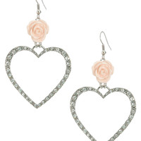 Pastel Flower Heart Earring | Shop Valentine 2013 at Wet Seal