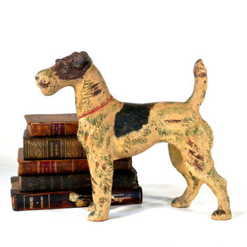 Hubley Fox Terrier Cast Iron Doorstop