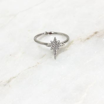 The North Star Silver Ring