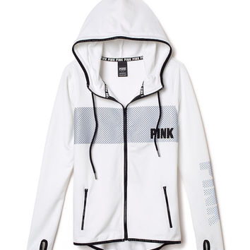 Full-Zip Fleece Hoodie - PINK - Victoria's Secret
