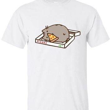 Cat In Pizza Box Novelty T-Shirt