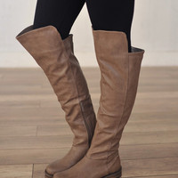 Knee High Boot- Beige