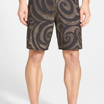 Men's Quiksilver Waterman Collection 'Convoy' Print Board Shorts,