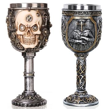 Skull Goblet Stainless Steel Mug Cup 200ml