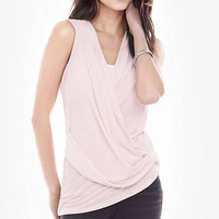 Pink One Eleven Surplice Tank from EXPRESS