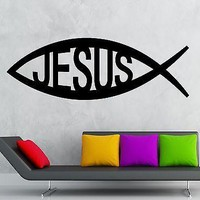 Vinyl Decal Wall Sticker Jesus Symbol of God Christianity Talisman Unique Gift (ig2002)