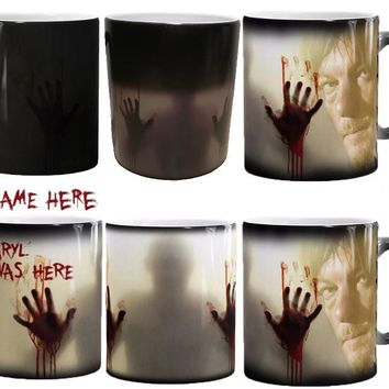the walking dead mugs zombie mugs daryl mug morph coffee mug disappearing cups transforming novelty heat changing color tea cups