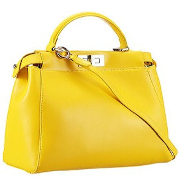 Fendi Peekaboo Medium Yellow Bag