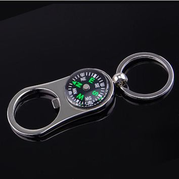 Compass Bottle Opener Key Ring Chain Keyring Keychain Metal Beer Bar Tool Gift
