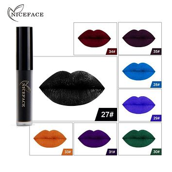 Sexy Matte Liquid Lipstick Lip Gloss Halloween Party Waterproof Long Lasting Cosplay Velvet Lipgloss Lip Tint Makeup Cosmetic Macchar Cosplay Catalogue