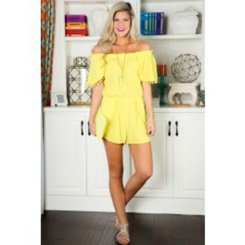 Everything I Do Romper-Bright Yellow