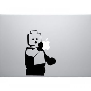 Lego Man Custom MacBook Decal by PastDarkGraphics on Etsy