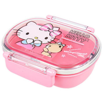 ☆ Sanrio entering a kindergarten entrance to school lunch holiday making constant seller series ★ black cat DM service impossibility for the Hello Kitty lunch case lunch box DX S talking child