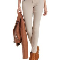 Tan Skin Tight Legging Skinny Jeans by Charlotte Russe