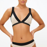 Nude Colour Block Soft Bra