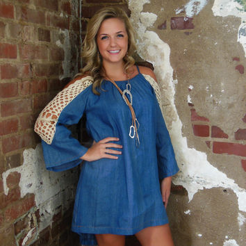 Umgee Denim Tunic