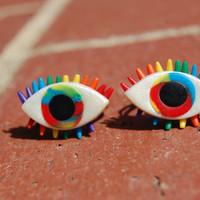 wicKed hippie rainbow eye ring set