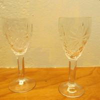 Set of Two Lead Crystal Barware Glasses