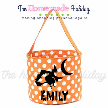 Personalized Witch Trick or Treat Halloween Bags