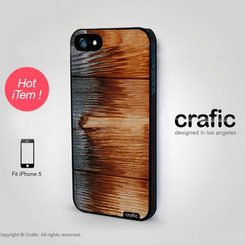 iPhone 5 Case  Burned Wood iPhone 5 Case by CRAFIC on Etsy