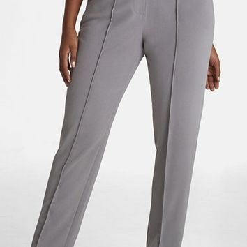 Plus Size Women's Mynt 1792 Zip Detail Pintuck Pants,