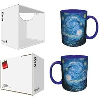 Vincent Van Gogh Starry Night Fine Art Blue Ceramic Boxed Gift Coffee (Tea, Cocoa) 11 Oz. Mug