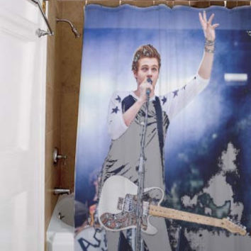 luke hemmings 5 Second Of Summer, special custom, shower curtains, available size, amazing gift