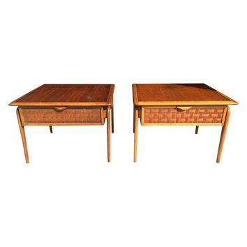 Pre-owned Mid-Century Lane Perception End Tables - A Pair
