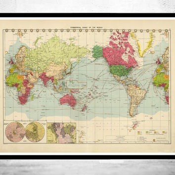 Old World Map in 1922
