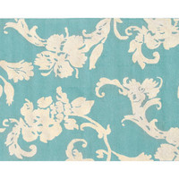 Fabulous and Baroque — Toulouse Blue Area Rug