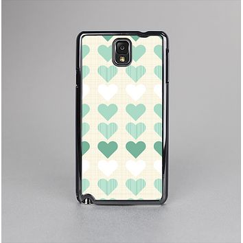 The Scratched Vintage Green Hearts Skin-Sert Case for the Samsung Galaxy Note 3