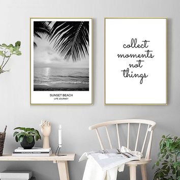 Sea Beach Landscape Wall Art Canvas Painting Nordic Posters and Prints Scandinavian Decoration Pictures Modern Home Decor