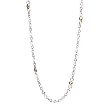 "Waxing Poetic 18"" Thin Cable Chain Necklace"