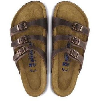 Birkenstock Florida Soft Foot Bed Oiled Leather - Habana