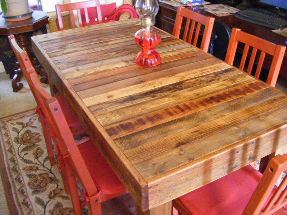 Rustic Reclaimed Wood Dining Table Or From