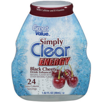 Walmart: Great Value Simply Clear Energy Black Cherry Drink Enhancer, 1.62 fl oz