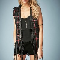 Kate Moss for Topshop Woven Leather Vest (Nordstrom Exclusive)