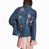 Embroidered Denim Jacket - from H&M