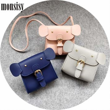 Monsisy Christmas Girl Coin Purse and Handbag Children Wallet Cute PU  Leather Elephant Kid Shoulder Bag aa5f7c684203
