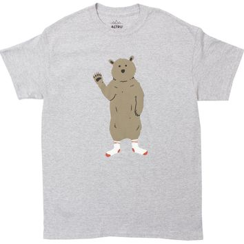 Bear in Socks Grey Tee by Altru Apparel