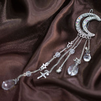 Moon Crystal Tassels Hair Clips AWH0003 [WH0003] - $18.00 - mystique.VPfashion.com
