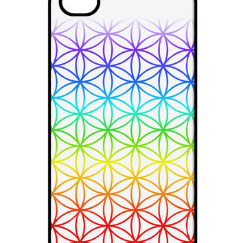 Chakra Flower of Life on White iPhone 4 / 4S Case All Over Print
