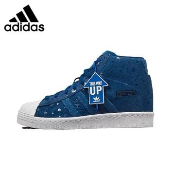 Original New Arrival  Adidas Originals Superstar Women's High Top Skateboarding Shoes Sneakers