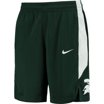 Men's Nike Green Michigan State Spartans On Court Basketball Shorts